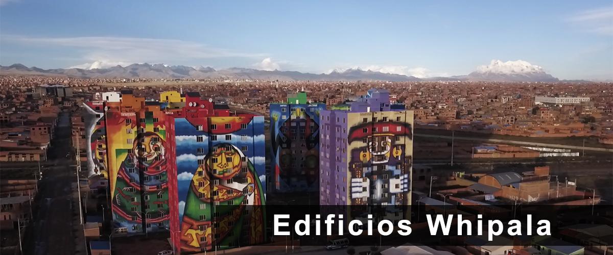 Edificios Whipala en La Paz