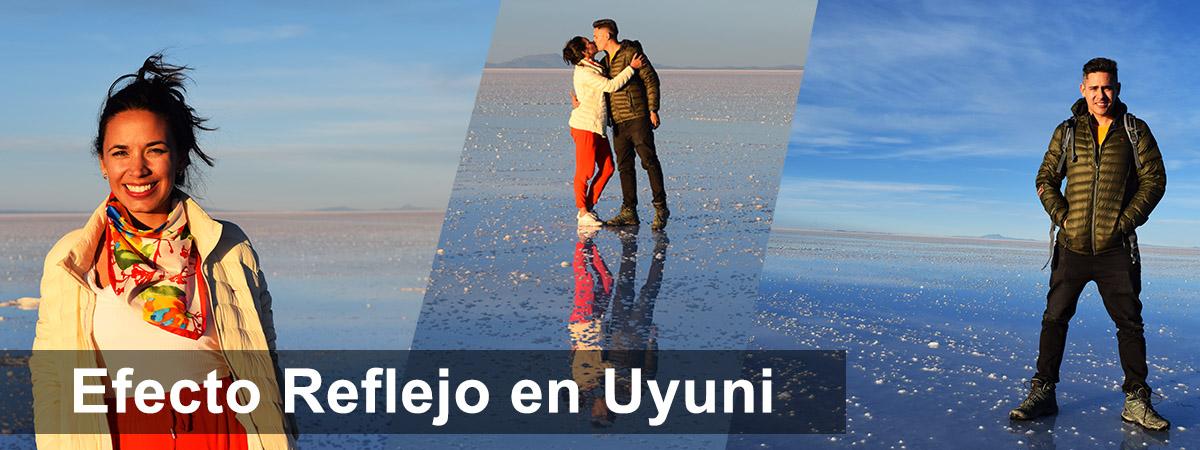 Efecto espejo salar de Uyuni