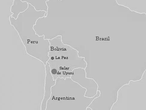Mapa de Salar de Uyuni