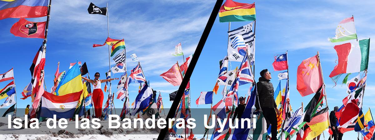 Isla de las banderas uyuni
