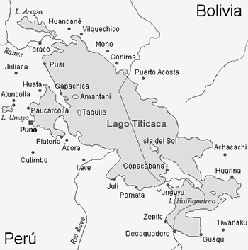 Mapa de Isla del Sol