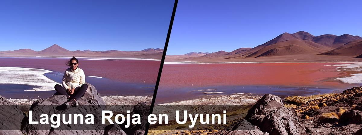 Laguna roja en Uyuni