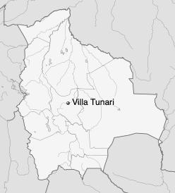 Mapa de Villa Tunari